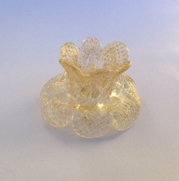 Crystal double flower with gold