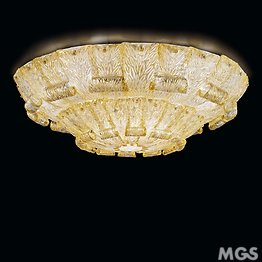 Crystal ceiling lamp with 24k gold
