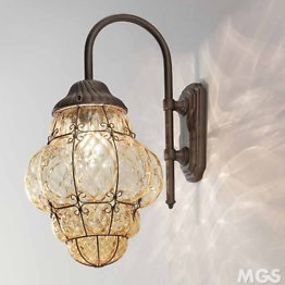 Outdoor Crystal Lantern wall mounted